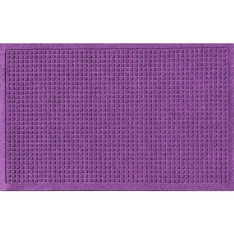 Purple Doormat by Aqua Shield Purple 24 In X 36 In Squares Polypropylene