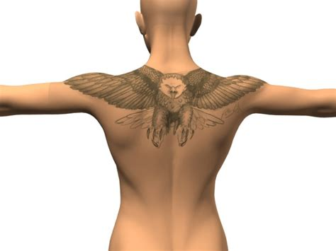 eagle back tattoo designs zoom tattoos eagle designs