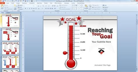Animated Goal Chart Template For Powerpoint Fundraising Ppt Templates