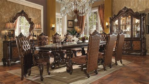 medieve dining room set cherry formal dining sets von furniture versailles large formal dining room set in