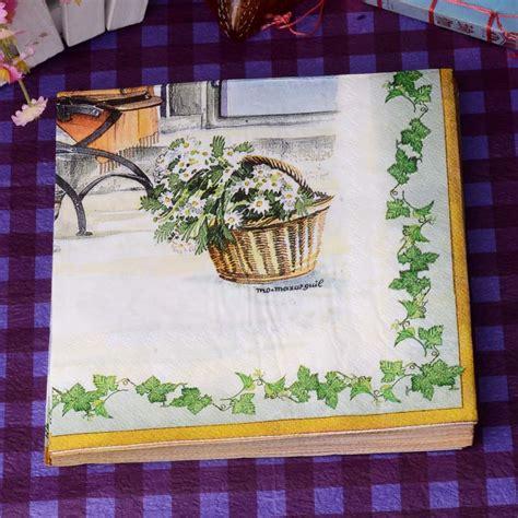 Napkin Decoupagetissue Decoupage 9 fresh courtyard paper napkins flower cafe tissue napkins decoupage decoration