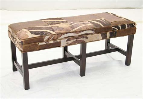 western benches exotic leather patchwork bench western benches free