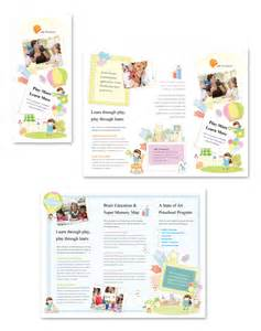 nursery brochure templates free preschool tri fold brochure template