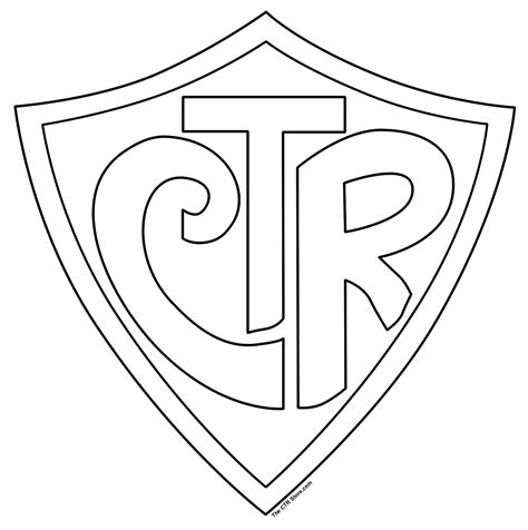 Lds Coloring Pages Ctr Shield | mormon share large ctr shield