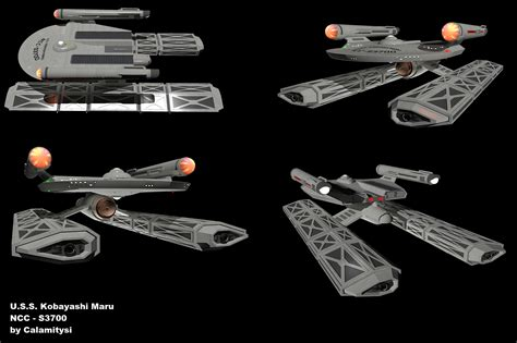 u s s kobayashi maru various angles by calamitysi on