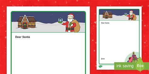 blank letter santa template ks resource teacher