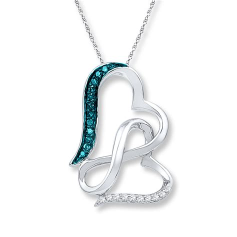 Blue Infinity Necklace Infinity Necklace 1 15 Cttw Blue Diamonds