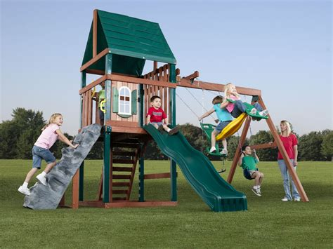 Swing And Slide Swing Brentwood Swing Set Brentwood Wood Play Set Swing N Slide