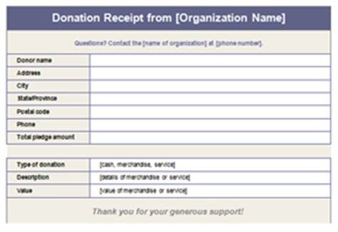Donation Receipt Template   8ws   Templates & Forms
