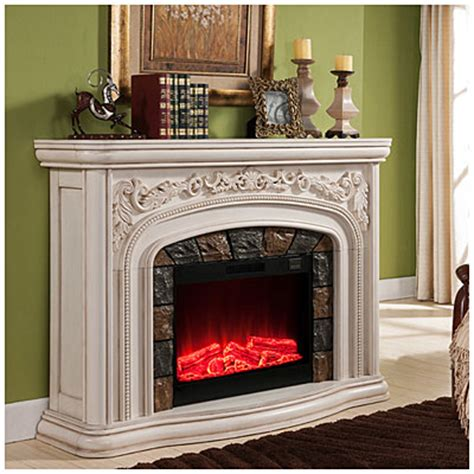 large white electric fireplace view 62 quot grand white electric fireplace deals at big lots