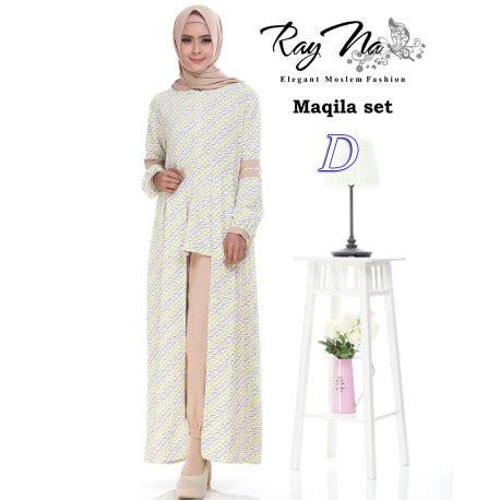 Amelia Tunik Original Kheva Mauza maqila d pusat busana gaun pesta muslim modern