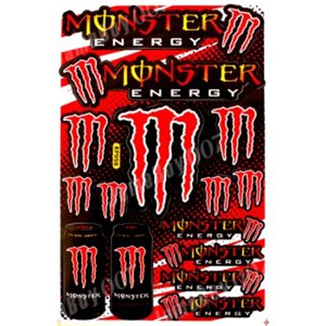 Monster Cars Aufkleber by Mrs0136 Rouge M0nster Energy Autocollants Stickers