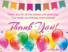 birthday thank you card message how to say thank you for birthday wishes wordings and