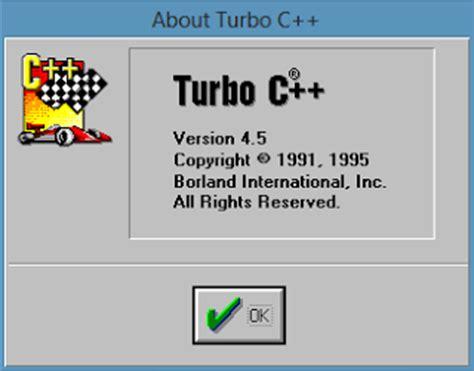 turbo c for windows 8 7 81 vista 32 bit 64 bits turbo c 4 5 for windows xp 7 8 8 1 32 bit
