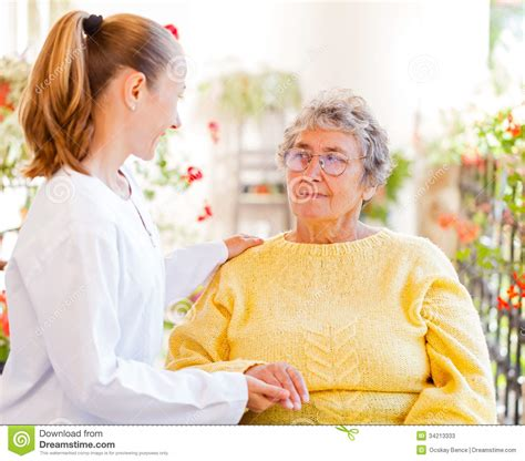 elderly home care stock photos image 34213333