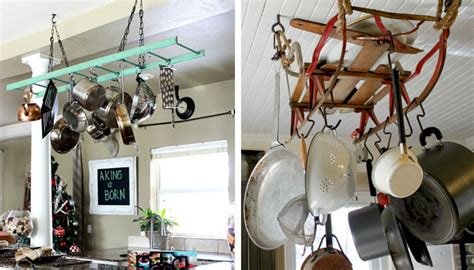 Build Your Own Pot Rack by Kitchen Storage Ideas How To Make Your Own Pot Rack