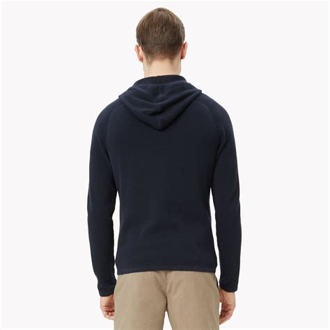 Cotton Lab Essential Hoodie Zipper Sapphire theory cotton zip sweater in black for lyst