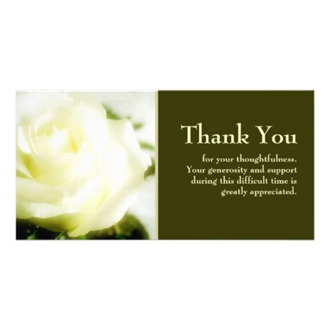 sympathy thank you photo cards zazzle
