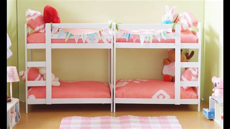 Diy Miniature Bunk Bed Tutorial For Dolls Nendoroid And Miniature Bunk Beds