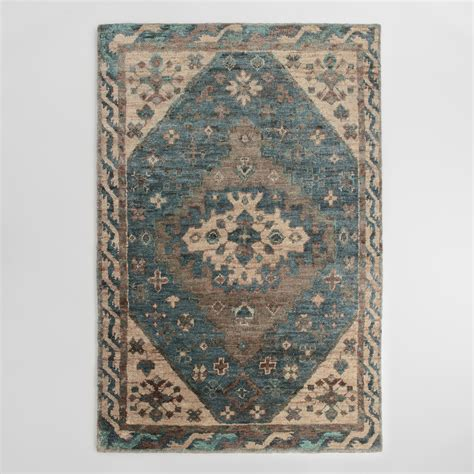 6x9 area rugs 6x9 teal and knotted jute zola area rug world market