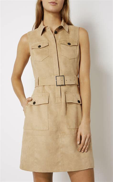 Syafira Dress faux suede safari dress millen
