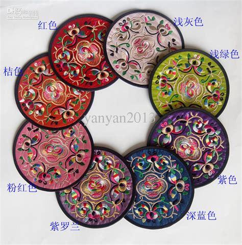 unique coasters 2017 cheap wedding coasters unique round embroidered
