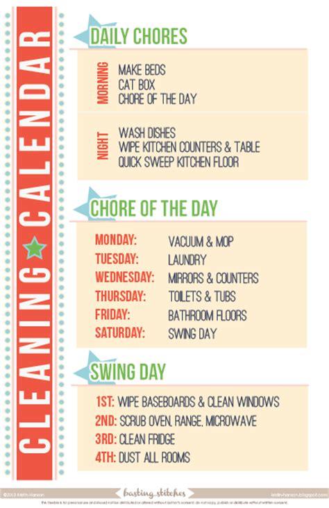 Cleaning Calendar Made In Spareoom Freebie Cleaning Calendar Blank