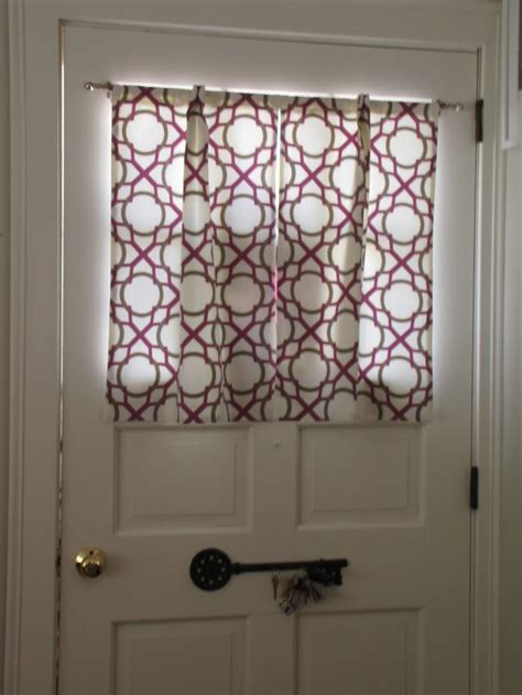 Curtains For Door Windows Door Window Curtains I Made Sewing Pinterest