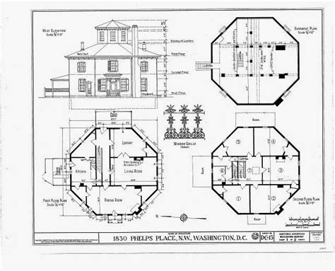 octagon home plans the house history man the other octagon house in washington dc