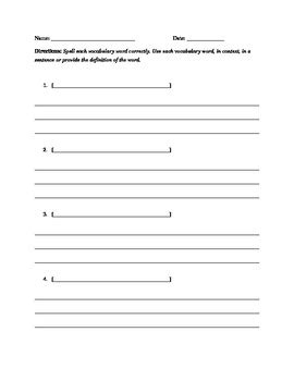 Vocabulary Quiz Template By Mister Y Teachers Pay Teachers Trivia Template