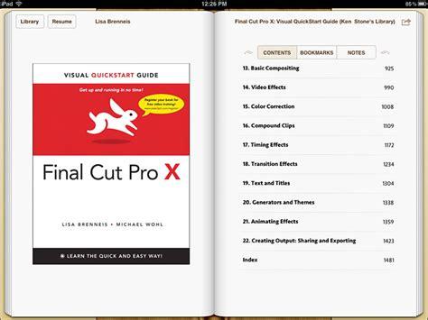 final cut pro quick start guide final cut pro x visual quickstart guide epub edition