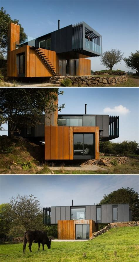container home design uk shipping container home by patrick bradley architects