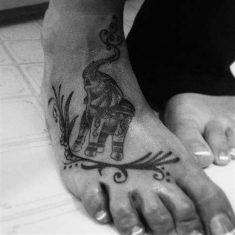 elephant ankle tattoo tribal elephant foot power strength tattoos