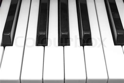 up of black and white piano stock photo