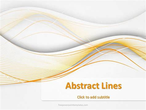 10200 Abstract Lines 6 Fppt 1 Free Powerpoint Templates Free Abstract Powerpoint Templates