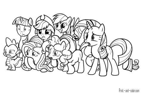 My Little Pony Coloring Pages Print And Color Com Colouring Pictures To Print
