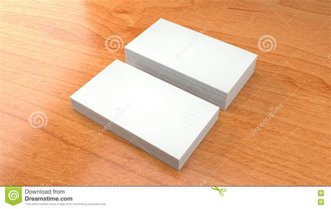 business card template render wood texture of business card 3d presentation stock image