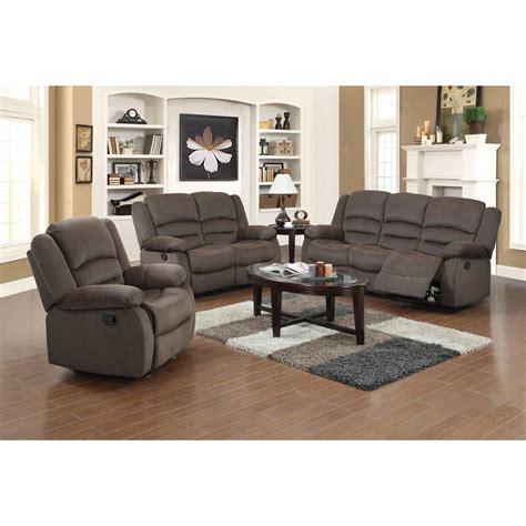 brown living room set ellis contemporary microfiber 3 piece dark brown living