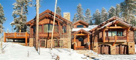 Rustic Timber Lodge Breckenridge Usa Catered Or Self Breckenridge Luxury Homes
