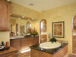 Tuscan Bathroom Design Tuscan Bathroom Design Tuscan Bathroom Clay Colored Tiles And Faux Finished Gold Walls Set