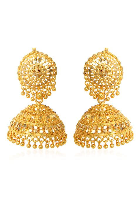 beaded jhumka style earring jdw