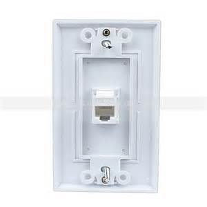 easy installation rj45 wall plate cat5e white