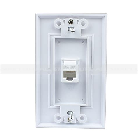 easy installation rj wall plate cate white
