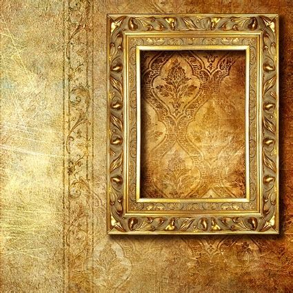 frame patterned wallpaper gold ornate frames and pattern wallpaper background