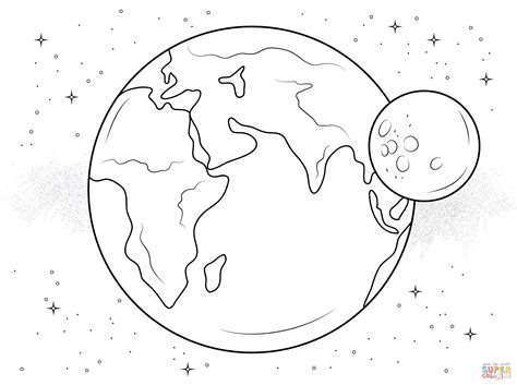 Coloring Page Earth by Search Results For Moon And Earth Coloring Sheet