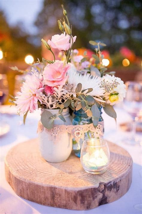 40 Awesome Shabby Chic Wedding Decoration Ideas For Shabby Chic Wedding Table Centerpieces