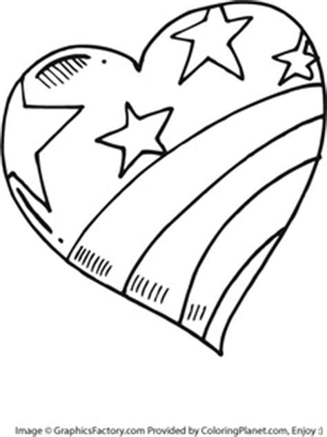 patriotic heart coloring page free large heart painted like the american flag coloring