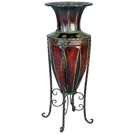Vase Stands by Tuscan World Metal Planter Vase With Stand