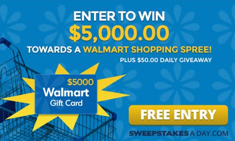Www Entry Survey Walmart Com Sweepstakes - sweepstakes a day walmart gift card expired