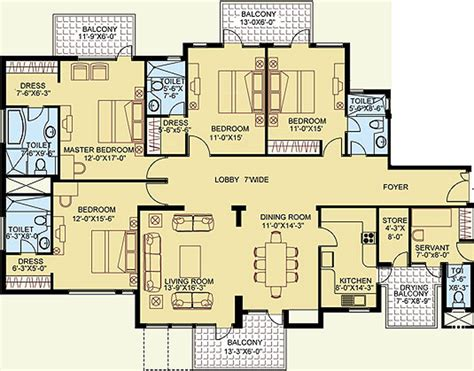 floor plan legend 2862 sq ft 3 bhk 5t apartment for sale in satya group the